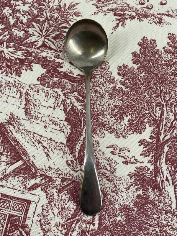 "Antique E & JB Silver Plate 5"" Salt Spoon Solid Handle"