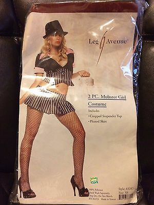 Halloween Leg Avenue Mobster Girl Gangster Costume New (Halloween Gangster Girl)