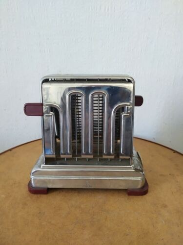 Vintage Antique  Toastmaster Chrome Toaster 1950 vintage