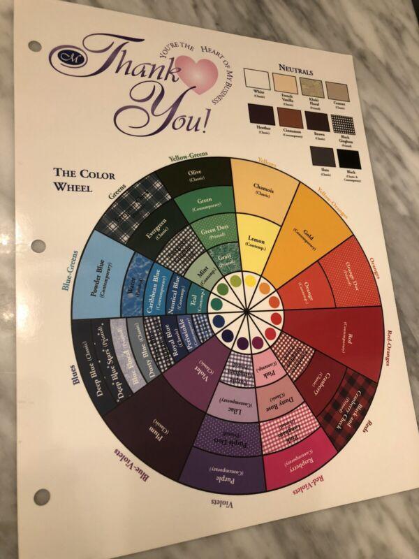 Creative Memories Color Wheel Scrapbooking Tips Wheel - Thank You Gift