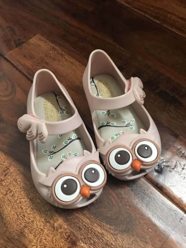 Mini Melissa Animal Lovers Owl Ultragirl Shoes Size 5 Toddler Used Once