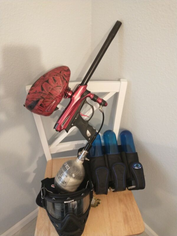 Dye Proto Reflex Rail - Complete Paintball Package - Marker Mask Tank Rotor Pack
