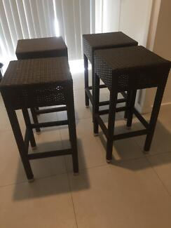 4 wicker high seats excellent condition