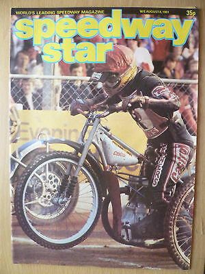 SPEEDWAY STAR MAGAZINE- 8 August 1981, VOL.30 No.21