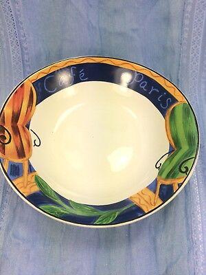2 Vintage Sango Cafe Paris Oval Soup Cereal Bowls