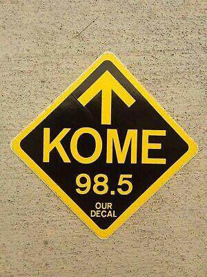 "Vintage (1980's) Radio Station Bumper Sticker FM 98.5 KOME San Jose CA 4"" Sq"