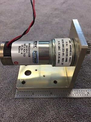 Pittman Gear Motor With Bracket 1224 V 1871 Ratio Reducer 316 Shaft Strong