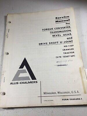 Allis Chalmers Hd11ep Dozers Transmission Bevel Converter Service Manual