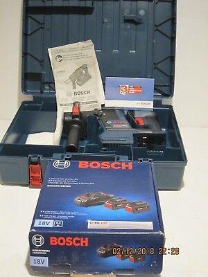 Bosch Gbh18v-26k Brushless Sds-plus Bulldog Rotary Hammer Kit Upgraded Batts New