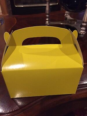 20 YELLOW PARTY FAVOR TREAT BOXES BAG GREAT FOR BIRTHDAYS WEDDING  BABY SHOWER Bridal Shower Favor Boxes