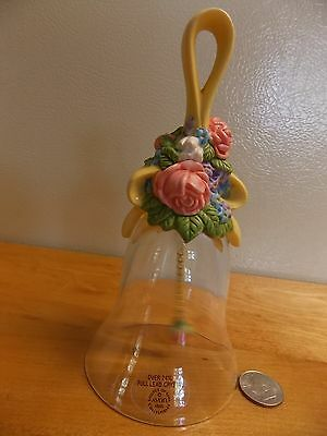 "AVON LEAD CRYSTAL1989 FLORAL HANDLE HEIGHT 5.5"" BASE 2.5"""