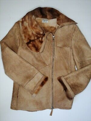 Henry Beguelin Luxury Fur Lined Coat Jacket Handmade In Italy Womens Size M