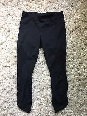 Athleta Black Mesh Cutout Leggings Yoga Pants XS