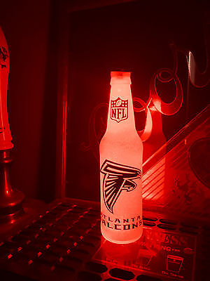 Nfl Pub Sign - NFL Atlanta Falcons Football 12 oz Beer Bottle Light LED Neon Bar Pub Mens sign