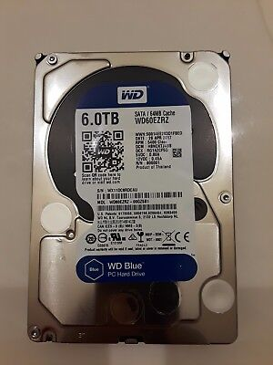 WD WD60EZRZ Blue 6 TB 3.5-inch SATA 6 Gb/s 5400 RPM PC Hard Drive (New and Seal)