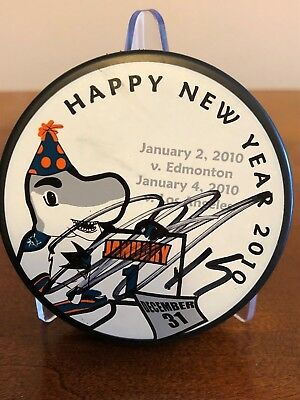 Dany Heatley Autographed 2010 Mystery Puck San Jose Sharks (Purch. At SJ Game)