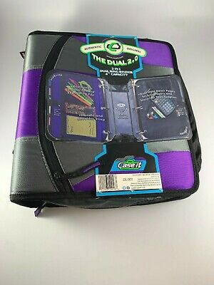 Case It The Dual 2.0 - 2 In 1 Dual Binder Dl-003 4 Capacity Purple And Grey