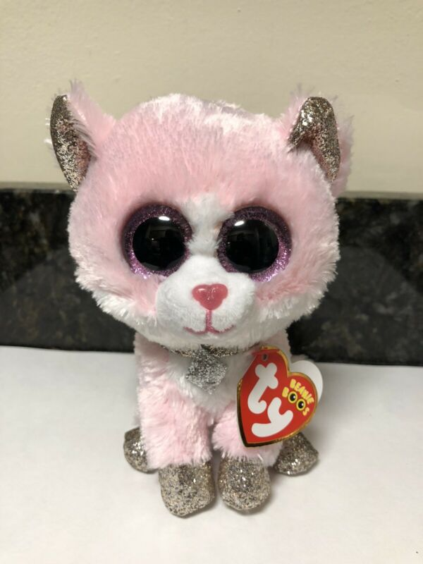 NEW 2019 CLAIRS EXCLUSIVE AMAYA THE PINK CAT BEANIE BOO  6IN