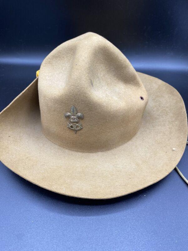 BSA Official Boy Scouts Leader Hat • BSA Be Prepared • Vintage