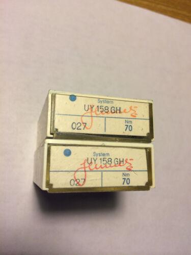 100 pc SCHMETZ sewing machine needles UY 158 GH  NM 70/027
