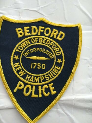 Bedford  New Hampshire Vintage Police Patch version 3