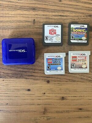 (2)DS LOT WRECK IT RALPH, Sonic Classic Collection, (2)3DS LOT LEGO CITY, Marvel