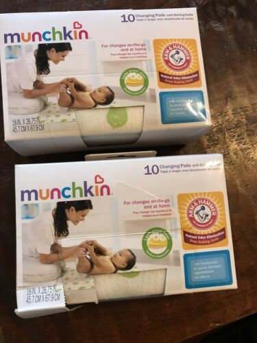 NEW!! 2 Boxes Of Munchkin 10 Changing Pads with Baking Soda