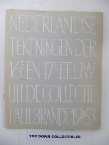 Nederlandse Tekeningen Centraal Museum Catalogus Paul Brandt Amsterdam 1963