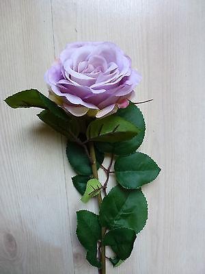24 x Rose 24tlg Seidenblume Kunstpflanzen flieder lavendel 62 cm 101232-84 F7