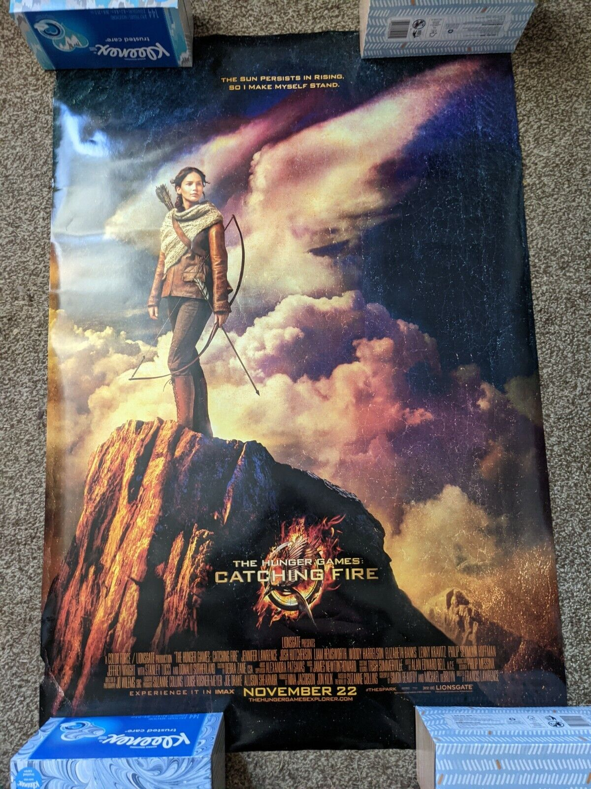 The Hunger Games Catching Fire Original Movie Poster With Jennifer Lawrence - $12.00