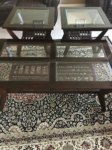 Coffe table and 2 end tables