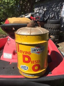 Antique Irving oil can