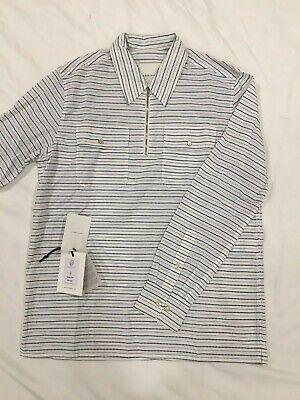 A KIND OF GUISE Molise stripe shirt M zipper pop over