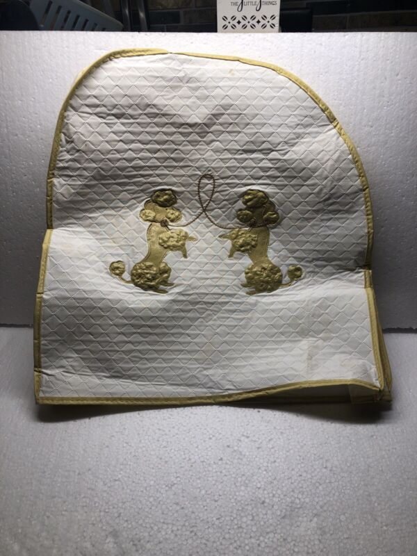 Vintage Poodle Quilted Vinyl Appliance Dust Cover