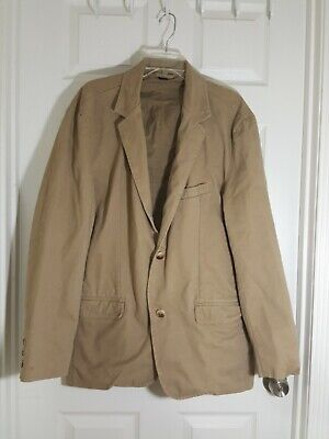 Mens Old Navy Classic Tailored Khaki Cotton Blazer Size XL Classic Tailored Blazer