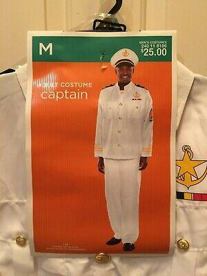 Sailor Captain Halloween Costume (NEW CAPTAIN SAILOR NAVY OFFICER ADULT HALLOWEEN COSTUME CRUISE SUIT MENS M &)
