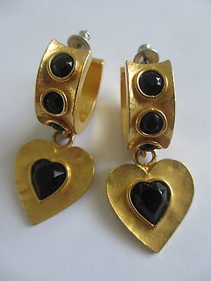 Wright & Teague Ladies Earrings Gold & Black for sale  Shipping to South Africa