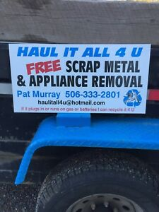 Free Scrap Metal and appliance removal