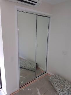 Shower/wardrobe/mirror installation