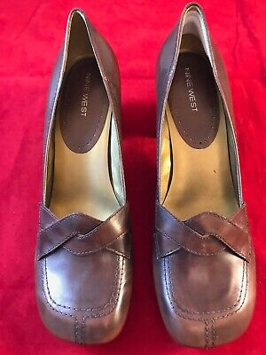 EX DISPLAY BRAND NEW NINE WEST Women's Saddle Leather 3