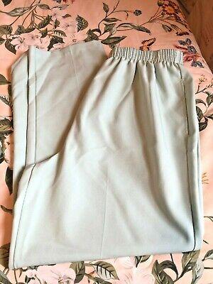 WOMANS BON WORTH BonWorth PALE LIGHT MINT GREEN PANTS SLACKS PULL ON NWOT L  Pale Green Pants