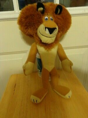 DREAM WORKS MADAGASCAR 3 PLUSH DOLL FIGURE ALEX THE LION AFRICAN CHARACTER TOY - Madagascar 3 Characters