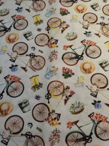 100 percent cotton bicycle garden flowers watering
