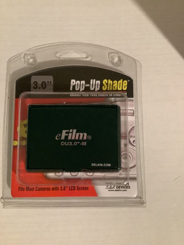 """Pop-Up Shade 3.0 """"by DELKIN - For Most Cameras w. 3.0"""" LCD Screen - NEW Item"""