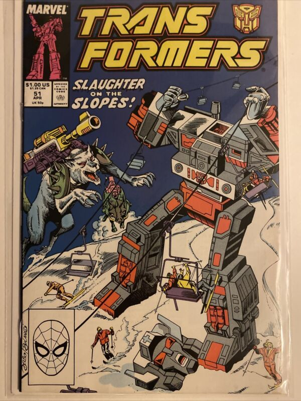 Transformers #51 Marvel Comics Direct Edition Very Fine/Near Mint Condition 1989