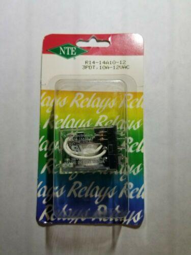 NTE R14-14A10-12 3PDT, 12 Volt AC Coil 10 Amp General Purpose Relay 10A