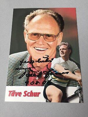 TÄVE SCHUR Olympia 1956/1960 Radsport signed Autogrammkarte 10 x 15