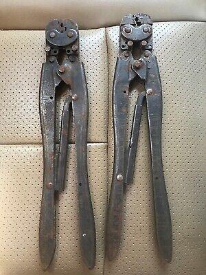 Amp Vintage Hand Crimper Crimping Tool D.g. 26-22 16-14 Model Lot Of 2