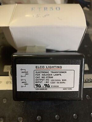 Elco Lighting Etr50 Low-voltage Electronic Lighting Transformer 12vac Out 120v