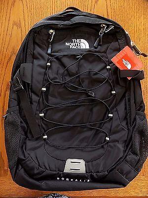 "NWT MENS THE NORTH FACE Borealis Backpack TNF BLACK 15"" LAPTOP BAG FREE SHIPPING"